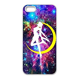 Yellow moon dancing girl Cell Phone Case for iPhone 5S