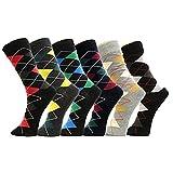 Yelete Men's Cotton Blended Dress 6-pair Socks 513