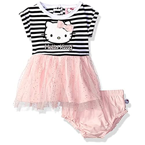 Hello Kitty Baby Girls 2 Pc Knit Dress, Multi/Pink, 6-9 Months