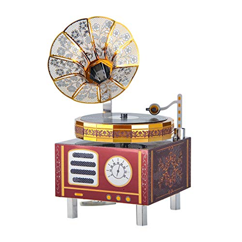 Microworld 3D Metal Puzzle Music Box Phonegraph Model Building Kit DIY Gift Ornament (by My Side)