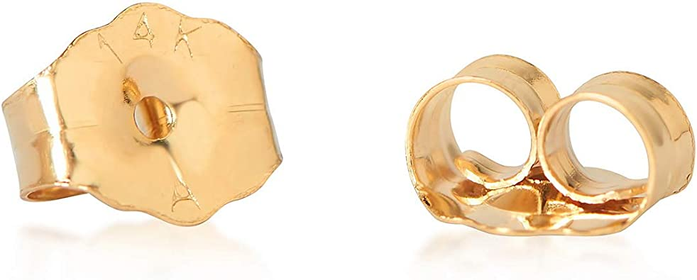 Olivias Collection 14kt Yellow Gold Simulated Birthstone Screw Back Stud Earrings