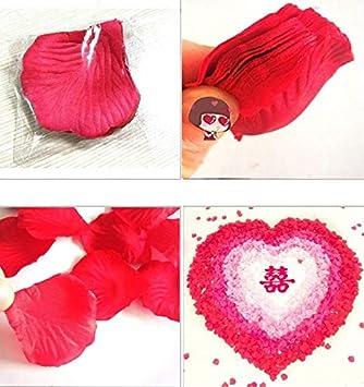 JUNGEN 1000Uds P/étalos de Rosa en Seda de Rosa Natural para Decoraci/ón Bodas Fiestas Confeti Tela Artificial Petalos De Rosa Blanco