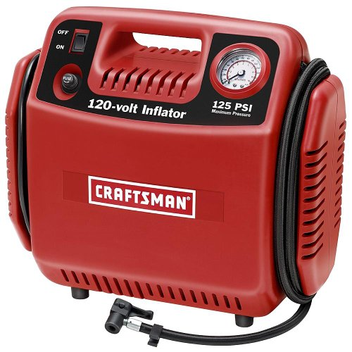 Tire Inflator Air Compressor Portable 6amp Tankless 120volt