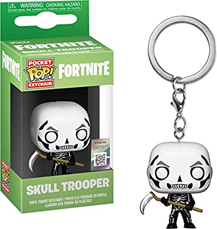 Funko- Pocket Pop Fortnite Llavero de Vinilo con Anilla Skull Trooper, (36952)