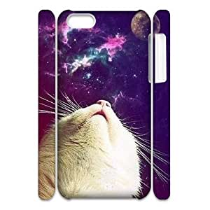 Galaxy Hipster Cat Custom 3D Cover Case for Iphone 5C,diy phone case ygtg551851