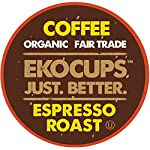 EKOCUPS Artisan Organic Espresso Dark Roast Coffee in Recyclable Single Serve Cups for Keurig K-Cup Brewers, 20 Count from EKOCUPS