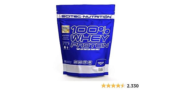 Scitec Nutrition 100% Whey Protein Fresa 1000 g: Amazon.es ...