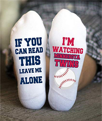 Minnesota Twins Socks Funny Birthday Gifts Baseball Team ()