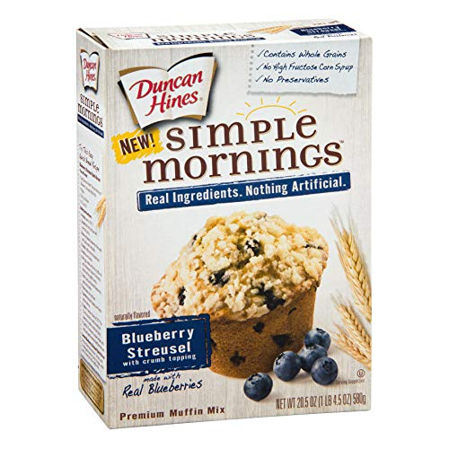 Duncan Hines Simple Mornings Blueberry Streusel Muffin Mix, 20.5-Ounce Boxes (Pack of 6) Duncan Hines Muffin Mix