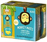 Sir Bananas Monkey Mates, Bananamilk, 8 oz (6 ct), Low Fat Milk with Real Bananas in Individual, Single Serve Milk Box Cartons Ready to Drink, with 8 Grams of Protein