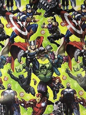 Christmas Wrapping (Bonus Jiggy Themed Writing Tool) Holiday Paper Gift Greetings 1 Roll Design Festive Avengers Infinity -