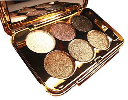 Christmas Gift for Women, Glitter Eyeshadow Palette 6 Colors Sparkle Eyeshadow Shimmer Ultra Long Lasting Makeup Palette for Valentine