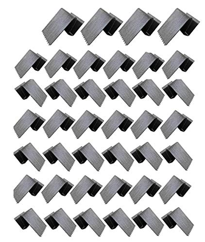 40 HurriClip Hurricane Safety Carbon Steel Clip for ½ inch Plywood | Used to Secure Plywood Hurricane shutters | Includes 40 Total Hurricane Windows Clips
