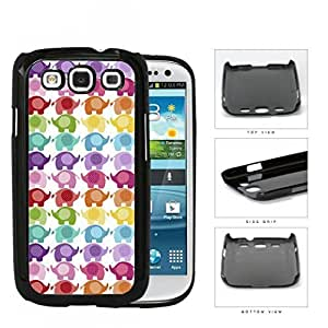 Colorful Mini Baby Elephant Pattern Hard Plastic Snap On Cell Phone Case Samsung Galaxy S3 SIII I9300