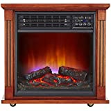 Haier 5,100 Btu Infrared Electric Fireplace Heater