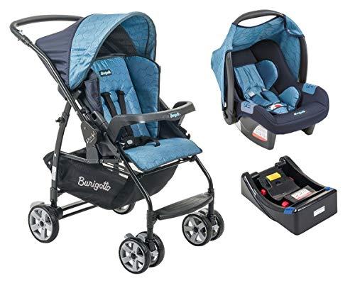 Conjunto Carrinho De Bebê Rio K - Burigotto - Geo Azul