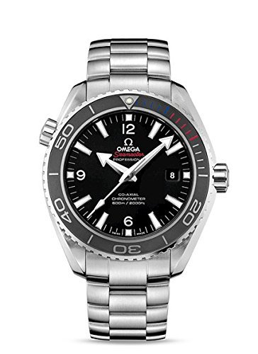Seamaster Deville (Omega Planet Ocean Black Dial Stainless Steel Mens Watch)