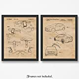 home office layout Original Tesla X + Interior Layout Patent Poster Prints - Set of 2 (Two 11x14) Unframed Pictures - Great Wall Art Decor Gift for Home, Office, Studio, Garage, Man Cave, Shop, Student, Teacher