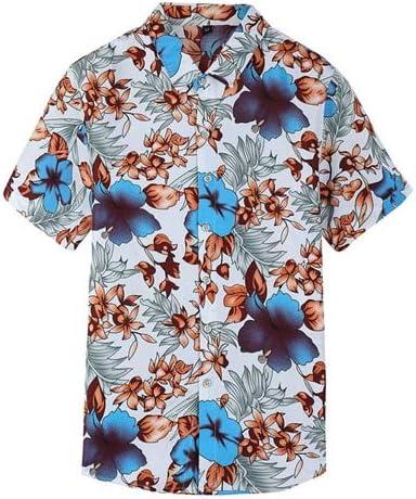 LFNANYI Moda Más El Tamaño Camisa Hawaiana Hombres Nueva Playa de Verano Camisa Floral para Hombre de Manga Corta Camisas Casuales 7XL: Amazon.es: Deportes y aire libre