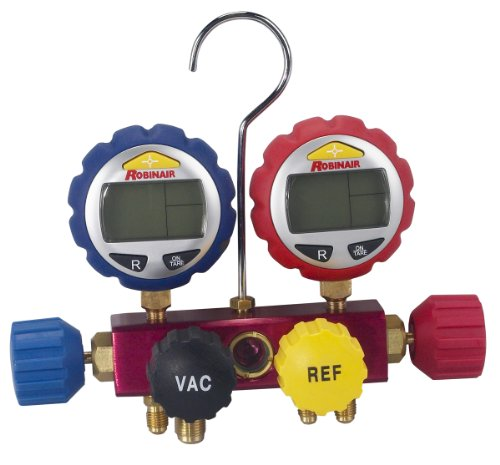 Robinair 43160 4-Way Manifold with Digital Gauges by Robinair