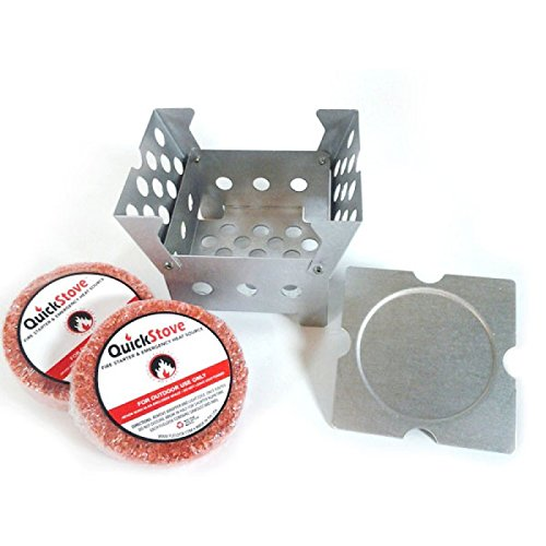QuickStove Emergency Prep Survival Multi Fuel Stove + 2 Fuel Disks. Fuel Sources include Alcohol Burners, Sterno Cans, Charcoal, Gel and Fuel Tablets, Sticks, and QuickStove Fuel Disks. - Multi Fuel Camping Stoves