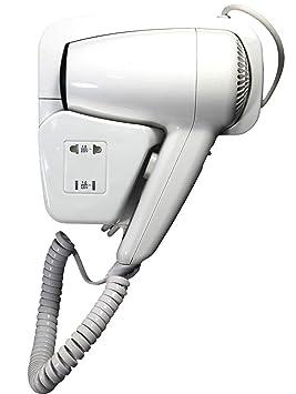 Dobo® - Secador de pelo de pared, con toma de corriente, ideal para baños de hoteles y vestuarios: Amazon.es: Electrónica