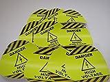 10 Industrial Safety Stickers | Danger High Voltage Safety Decals | 10 Pack