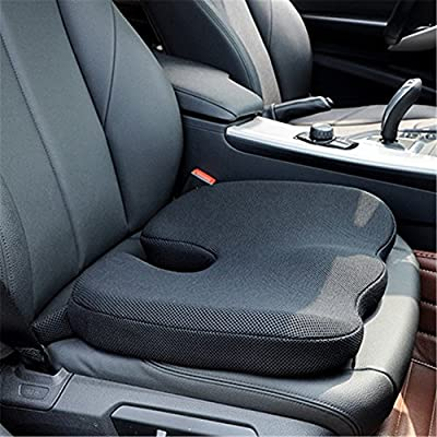 Car Seat Cushions High-density Memory Foam Pad for Office Chair 3D Mesh Cover Coccyx Support Hip,Nerve,Sciatica,Sacrum Back Pain Relief Foam Seat Orthopedic Cushion Pillow
