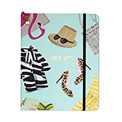 In celebration of their 25th anniversary, Kate Spade New York covered this large planner in some of their greatest hits. This fresh, stylish 13 month planner from Kate Spade New York is sure to keep you organized and on-trend from August 2018...