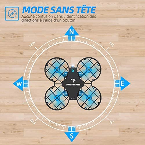 SNAPTAIN H823H Mini Drone Enfant 21 Mins Autonomie 3 Batteries Avion Hélicoptère,Mode sans Tête, Maintien d'altitude, Opération à Un Bouton, 360°Flips pour Les Débutants et Les Enfants
