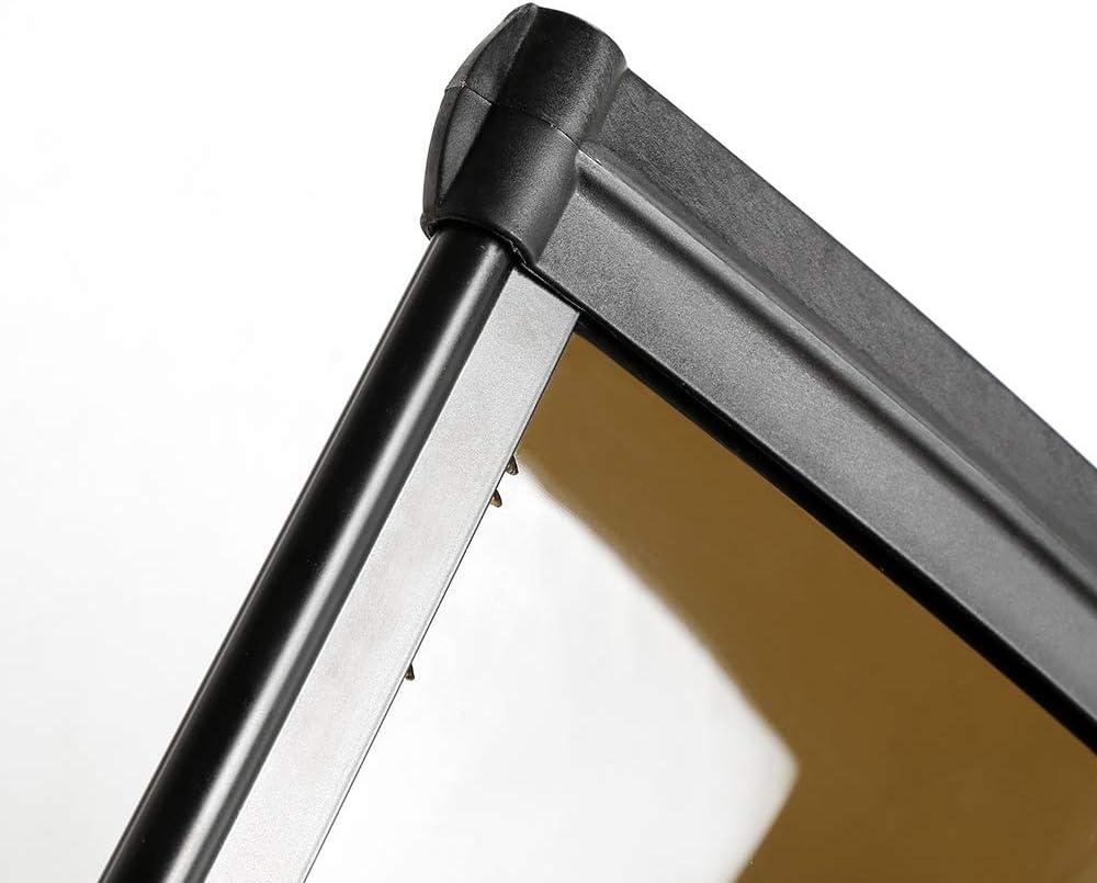 60x100cm, Transparente Marquesina para Puertas Ventanas Toldo S/ólido Porche Delantero Sombra Exterior,Techo
