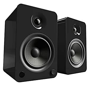 Kanto YU6 Powered Bookshelf Speakers with Bluetooth® and Phono Preamp (Gloss Black)