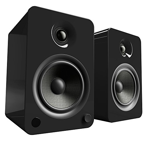 "Kanto 5-1/4"" Powered Wireless 2-Way Bookshelf Speakers (Pair) Gloss black YU6GB"