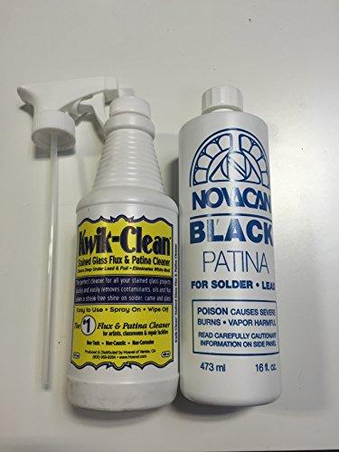 Kwik-Clean Flux Cleaner & 16 OzBlack Patina For Lead And Solder - 16 oz Bottle