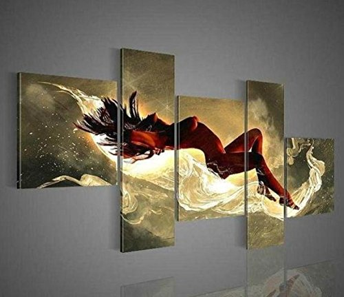 Arts World Hand-Painted Modern Art Wall Home Decor Canvas Paints Sexy Nude Abstract Oil Painting 5Pcs Set Pictures On The Wall