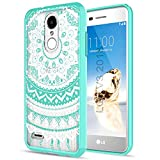 LG Aristo 2/Zone 4/Tribute Dynasty/K8 2018/LV3 2018 Phone Case Clear,AnoKe Mandala Girls Women Cute Thin Slim Fit TPU Bumper Protective Cover with Screen Protector for LG Aristo 2 X210MA X210 TM Mint