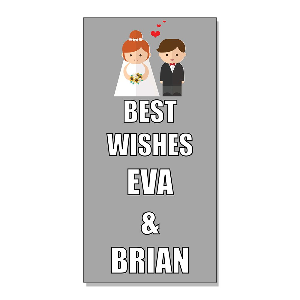 Amazon com wedding marriage best wishes wedding party custom decal sticker store sign 14 5 x 36 inches office products