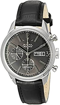 Bulova Accutron Men's Swiss Murren Chronograph Leather Watch