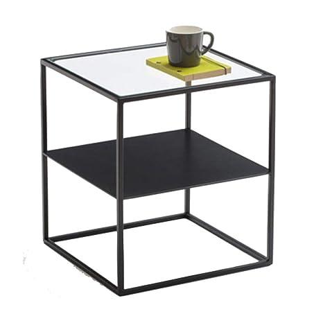 Amazon.com: Mesita de noche moderna minimalista de hierro ...
