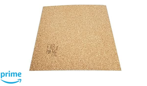 FabItForMe Cork Bed 3D Printer Heatbed Insulator 3mm Thick with Adhesive 300mm Square