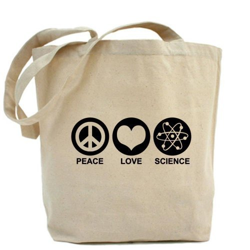 Peace Love Science Tote bag Tote bag by Cafepress by Cafepress