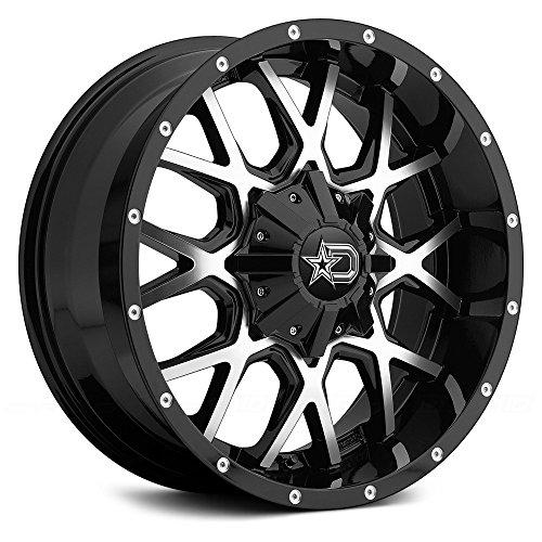 Dropstars 645MB 18 Black Machined Wheel / Rim 6x135 & 6x5.5