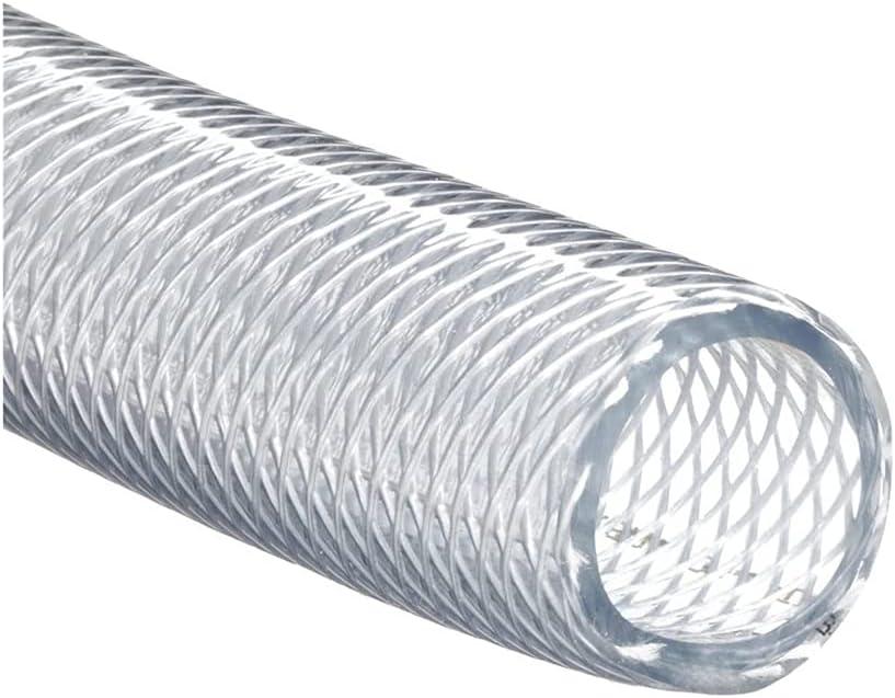 JUNZHIDA High Pressure Braided Clear Flexible PVC Tubing 1/2
