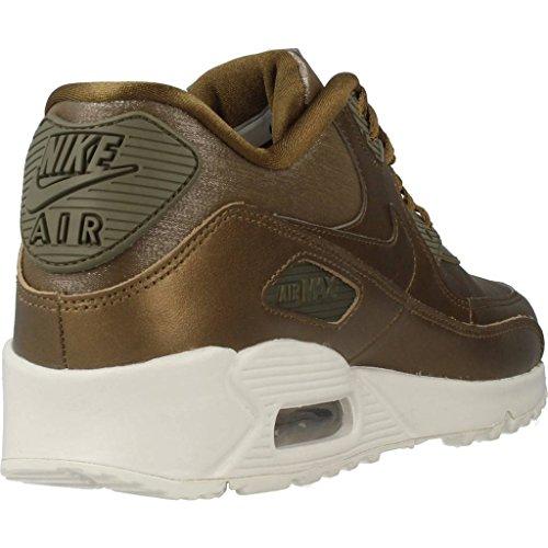 Nike Damen Air Max 90 Premium Mesh / Leder Sneaker Gold (campo Metallico / Vertice Bianco / Nocciola Rush)