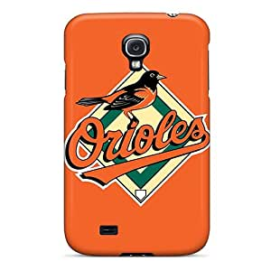 Protective Tpu Case With Fashion Design For Galaxy S4 (baseball Baltimore Orioles)