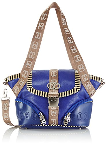 poodlebag German Couture-piping-blankenese, Borsa a spalla Donna Blu (Blu)