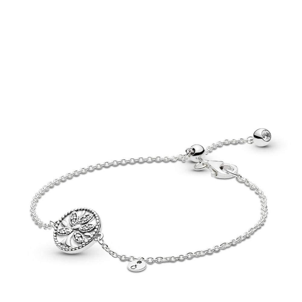 PANDORA Tree of Life 925 Sterling Silver Bracelet, Size: 20cm, 7.9 inches - 597776CZ-20