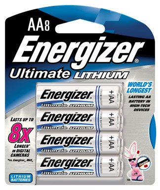 Energizer Lithium Aa Photo - Energizer L91BP-8 Ultimate Lithium AA Batteries (8-Pack)