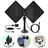 Newest Adsorbable TV Antenna, Vansky 2017 Upgraded Indoor HDTV Antenna 50 Mile Range with Detachable Amplifier Signal Booster, Designed for The Best Reception On Both UHF And VHF Bands