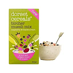 Dorset Cereals Raspberry & Blackcurrant Bircher Muesli Mix 600g - Pack of 2